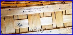 1999 Longaberger Treasure Basket Woodcraft Shelf Top Wrought Iron Stand Set EUC