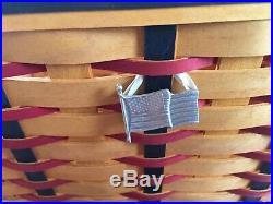2002 Longaberger All American/proudly American Block Party Basket Set
