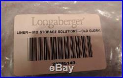 2003 Longaberger Medium Storage Solutions Basket Combo Set Old Glory Liner LID