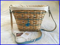 2006 Longaberger Coastal Tote Set -cream Liner, Protector, Tie On