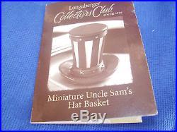 2013 Miniature Uncle Sam's Hat Basket Set Longaberger USA