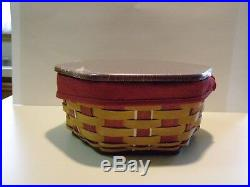 2016 LONGABERGER HOLIDAY HOST CHRISTMAS GENERATIONS BASKET SET RED with FREE LINER