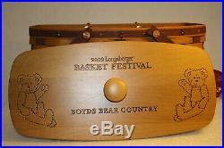 608 Longaberger Boyd's Bears 2009 Basket Festival Basket Combo Set Super RARE