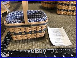 Complete Set 12 Longaberger J. W. Miniature Baskets Collection + pottery