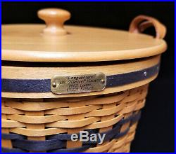 Entire 12 pc JW LONGABERGER MINIATURE Basket set + Display Cabinet Pie Berry