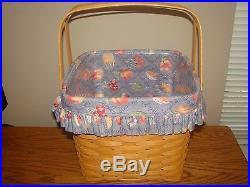 Grandma Bonnie's TWO-PIE 1998 Longaberger Basket Set Burnt In Signature NEW