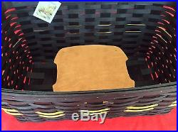 IOWA HAWKEYES Black Gold TAILGATE BASKET SET Longaberger 6 pieces New