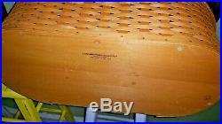 LONGABERGER Large Work Load Basket Set-2001(Lid, Protector)