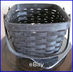 Longaberger2012picnic Tote Basket Setblackwoodcrafts Lidnew