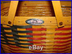 Longaberger 1998 CC Basket Set Collectors Club 25th Anniversary FLAG NEW