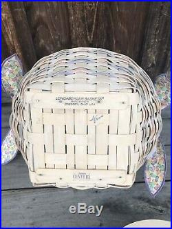 Longaberger 2000 Large Easter Basket Set Whitewash