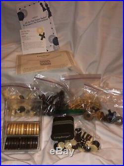 Longaberger 2001 All In One Game Basket Set Chess Checkers Backgammon Tic Tac To