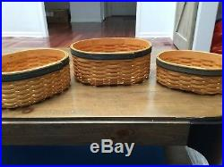 Longaberger 2001 Collectors Club Shaker Harmony Basket #1, 2, 3 Set COMBO
