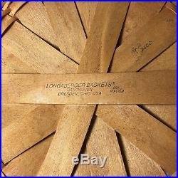Longaberger 2001 EASTER Super Set 2 Baskets 2 Liner Protector Tie On & Egg Plate