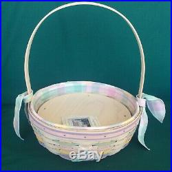 Longaberger 2001 EASTER Super Set 2 Baskets Liner Protector Tie On & Egg Plate