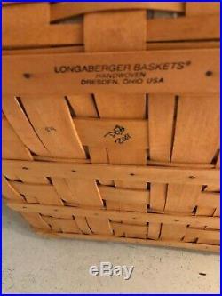 Longaberger 2001 Father's Day Checkerboard Basket Set