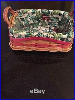 Longaberger 2002 Christmas Tree Trimming Treats Basket Set Red