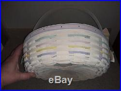 Longaberger 2002 Large And Small Easter Basket Set With Glass Egg Tray
