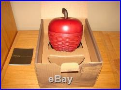 Longaberger 2007 Collectors Club Red Apple Basket Super Set New in Box