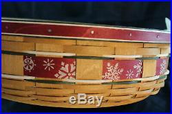 Longaberger 2010 HHoliday Hostess Large Falling Snow Basket Set with Lid &Liners