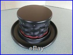 Longaberger 2010 Snowman Top Hat Basket set NEW full size