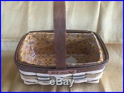 Longaberger 2011 Bee Basket Set Basket, Protector, Liner, Lid, Tie-On & Card