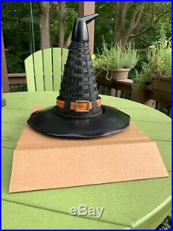 Longaberger 2011 Halloween Witch's Hat Basket Set + Resin Base