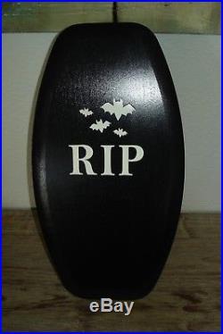 Longaberger 2015 Halloween Black Coffin Basket Set RIP Bats Woodcraft Lid RARE