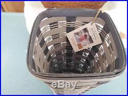 Longaberger 2016 Collector's Club Limited Winter Tides Vase Basket set NEW