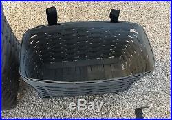 Longaberger 2016 Grey Hanging Baskets & Rod Set