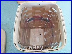 Longaberger 2017 Dresden Bee Basket set Complete with lid & protector NEW