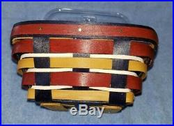 Longaberger 2017 INAUGURAL Basket set with Lid with Tie On Patriotic Limited Ed
