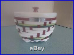 Longaberger 2017 Multi color Christmas Collection Snow Swirl basket set NEW