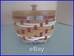 Longaberger 2017 Red Christmas Collection Snow Swirl basket set NEW
