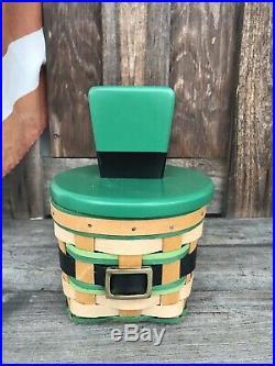 Longaberger 2018 St Patricks Day Set Custom Lid. Last Set Made