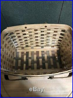 Longaberger 25th Bee Amer. Craft Traditions Medium Market Basket Set