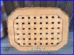 Longaberger All In One Game Basket W Accessory Set