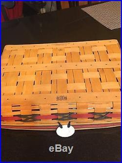 Longaberger All-american Star-spangled Hostess Serving Tray Basket Set New