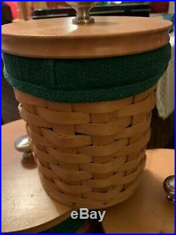 Longaberger Basket 20 Piece Canister Set With 4 Green Liners