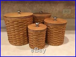 Longaberger Basket 4-piece Canister Set