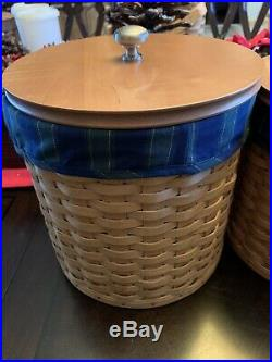 Longaberger Basket Canister Set Collectors Club Liners
