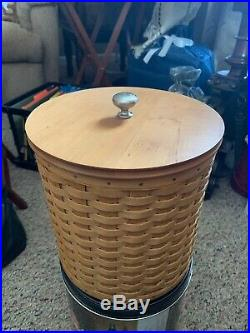 Longaberger Basket Canister Set With 4 Green Liners. Beautiful
