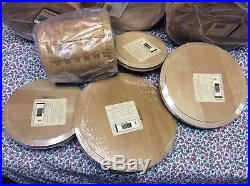 Longaberger Basket Full Canister Set Of 4 with Lids & Storage Containers ALL NEW