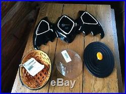 Longaberger Black Bat Dish And Oval Basket Set With LidBrand New