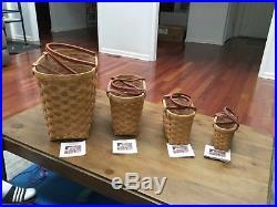 Longaberger Boardwalk Baskets Large, Medium, Small a/ Little SET