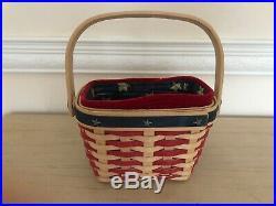 Longaberger Bowl Baskets withprotectors -Set of 4-7,9,11,13 $149.99+FG+Liners