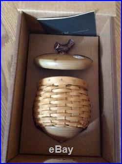 Longaberger CC Acorn Basket Set -IOB-NEW