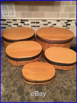 Longaberger CC Harmony Basket Set (#1-5) MINT IN BOXES