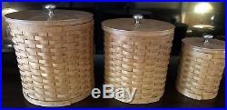 Longaberger Canister Basket Set