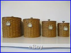 Longaberger Canister Basket Set-set Of 4